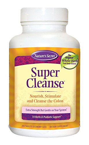 Cheap Nature's Secret Super Cleanse Herbal and Probiotic Support, 200 Tablets (Pack of 2)