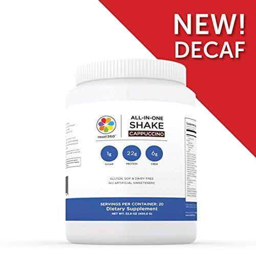 Cappuccino Shake (decaf) - high protein and fiber, low sugar - to Regulate Hormones by Harvard MD and author of The Hormone Cure by Reset360
