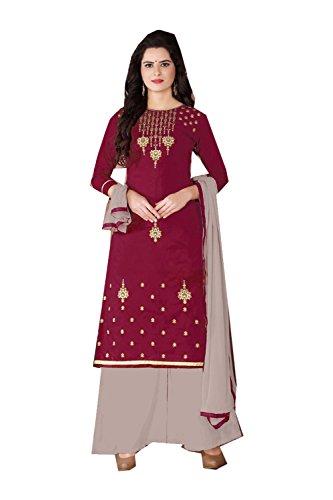 Aashima Fab Store Indian Women Designer Partywear Ethnic Traditonal Light Marron Anarkali Salwar Kameez by Aashima Fab Store