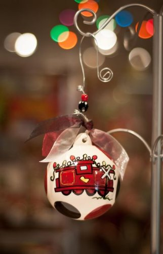 Glory Haus South Carolina Ball Ornament, 4 by 4-Inch