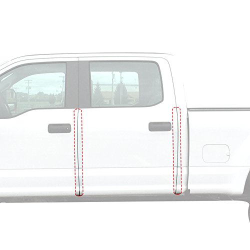 - Red Hound Auto Door Edge Lip Guards Compatible with Ford F-150 F150 Crew Cab 2015 2016 2017 2018 2019 4pc 4 Door Clear Paint Protector Film Not Universal Pre-Cut Custom Fit