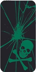 iphone covers Skull w/Cross Bones iPhone 5c Quality Hard Case for Iphone 5c 4G - AT&T Sprint Verizon (BLACK)