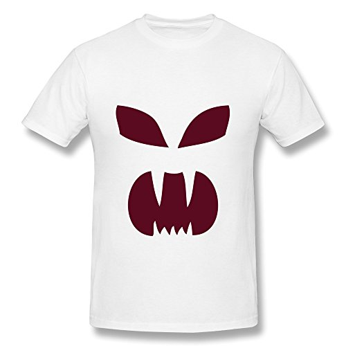 (CHUNYAO Halloween Pumpkin Face T Shirt For Mens L)