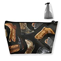 Western Cowboy Essentials - Cowboy Boots Travel Cosmetic Bag Storage Bag One Size