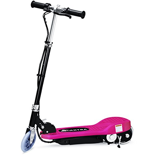 Maxtra E100 Electric Scooter 160lbs Max Weight Capacity Motorized Scooters Bike for Kid Rose