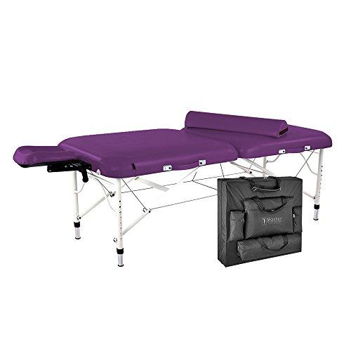 Master Massage Ultra Lightweight Calypso Aluminum Portable Massage Table Package, King's Purple, 30 inch, 25 Pound