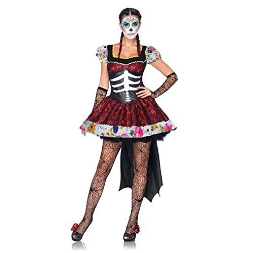 LVLUOYE Stage Performance Uniforms, Horror Costumes, Mexican Day of The Dead Festival Costume Ball, Ghost Bridal Costumes ()