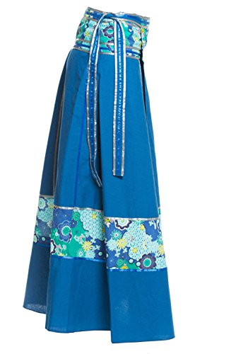 Jupe plusieurs maxi diffrents avec designs ceinture portefeuille Ufash Bleu indienne Jupe AqgSx1