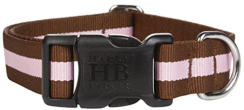 Harry Barker Eton Collar - Brown & Pink - Large - 16-26 inch