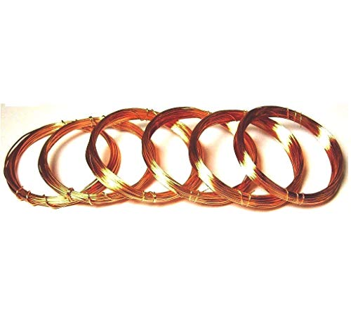 Assorted Sizes Half Hard Copper Wire 18,20,22,24,26,28 Ga / 10 Ft Each- Craft - Hobby - Jewelry Making - Wire Wrapping ()