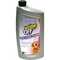 urineOFF Dog & Puppy Odor and Stain Remover Formula Bottle Carpet Injector Cap, 32oz