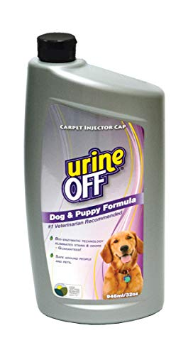 (Urine Off Odor and Stain Remover for Dog and Puppy, 32-Ounce Injector Cap)