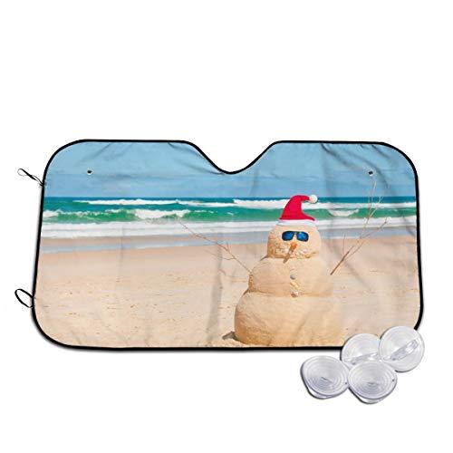 Car Windshield Sunshade Australia Beach Snowman UV Ray Reflector Front Window Sun Shade Visor Shield Cover 30]()