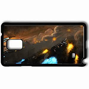 Personalized Samsung Note 4 Cell phone Case/Cover Skin Art Ships City Explosions ATTACK Smoke Black