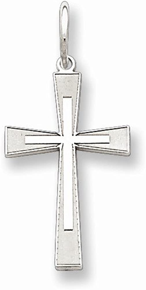 Best Quality Free Gift Box Sterling Silver Laser Designed Cross Pendant