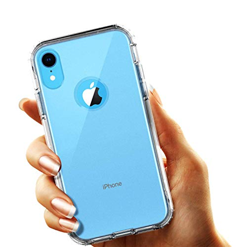 smartelf Clear Case for iPhone XR Full body Heavy Duty Protection Built in Screen Protector Transparent Cover Dustproof Shockproof Shell for iPhone XR 6.1 inch-Clear