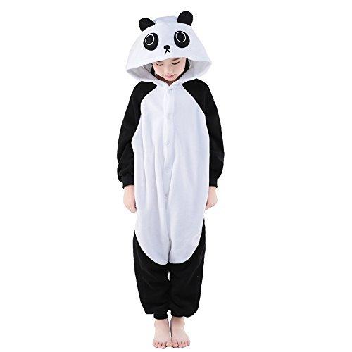 NEWCOSPLAY Unisex Children Cute Panda Pyjamas Halloween Costume (10-Height 55-58
