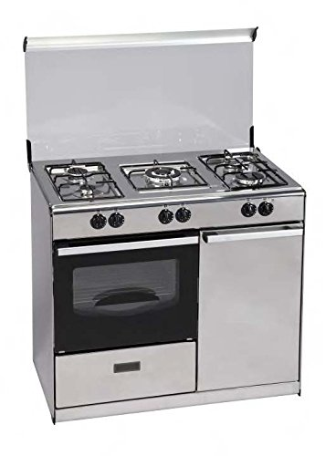 Jocel Cocina a Gas 89x52 JFG 5 INOX C/V 5 Quemadores + 1 Triple ...