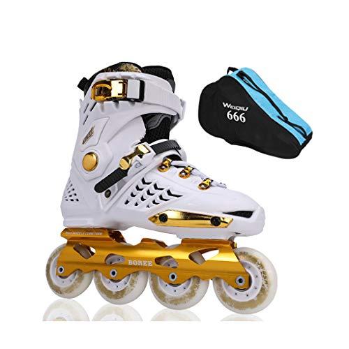 フローさびた海藻ailj インラインスケート、スケート、大人の男の子、女の子、ローラースケート、プロフェッショナル多目的スケート(3色) (色 : 白, サイズ さいず : EU 44/US 11/UK 10/JP 27cm)