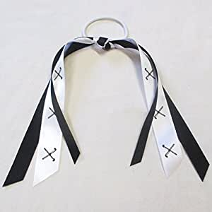 Field Hockey Ribbon - Made in the USA, Avail in many colors, Black