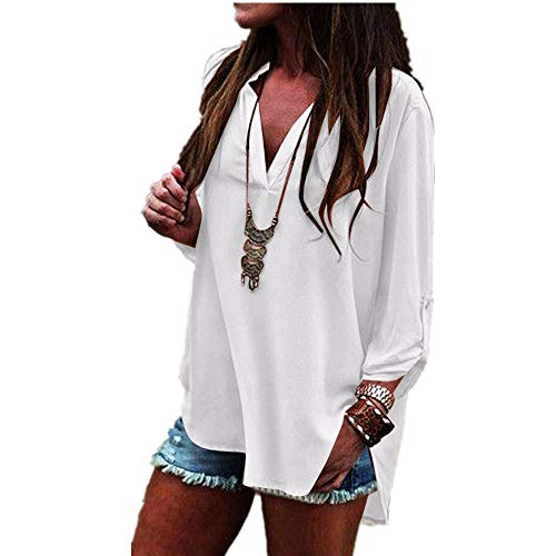 Women Blouse for White Shoulder Jersey Leaves Crop