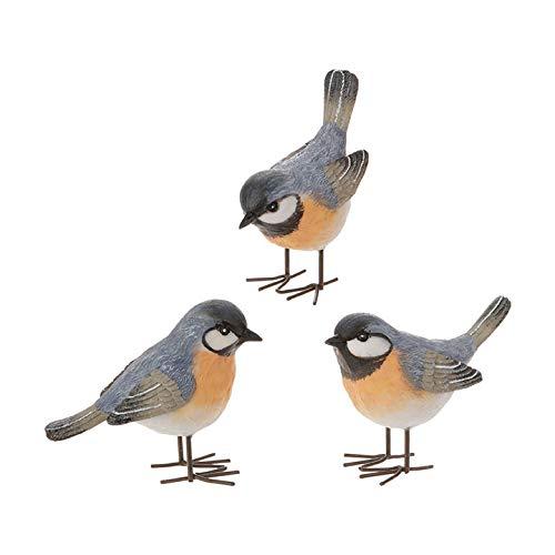 RAZ Imports 3.5-Inch Resin Bird Figurines - Set of 3 Assorted (Figurines Bird Resin)
