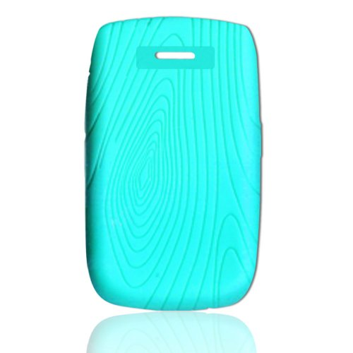 CellAllure Silicone Protector with Fingerprint Design - Light Blue