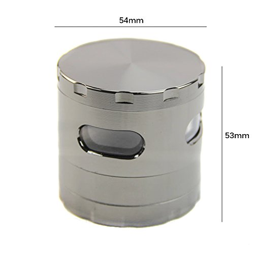 Want Tobacco Herb & Spice Grinder, Eshop99 Multifunctional Chopper for Weed, Tobacco, Herb, Spice and More-Four Pieces and Big Storage Chamber and Separate Pollen Catcher(Silver) cheapest