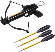 "60PCS Crossbow Bolts, Aluminium Crossbow Bolts Arrows 6.3"" Steel Tips Hunting Arrows for 50-80Lbs Mini Cr"