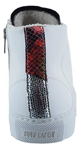 Para Cuero Zapatillas Mujer Blanco P448 De Bianco tvF6tw