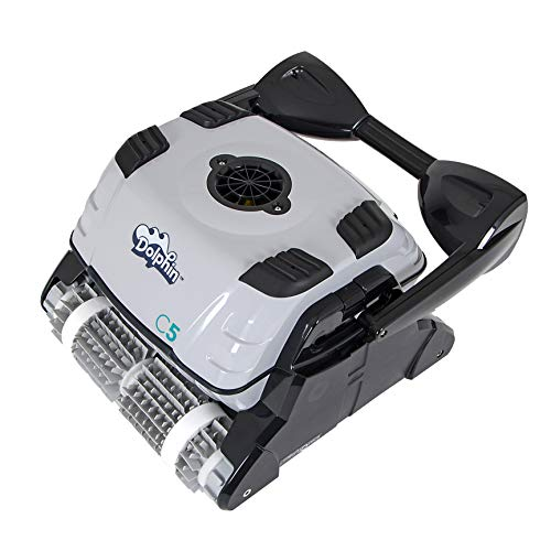 DOLPHIN C5 Commercial Robotic Pool Cleaner with High-Capacity Filtration and Powerful, Dual Scrubbing Brushes, Ideal for Commercial Swimming Pools up to 88 Feet.