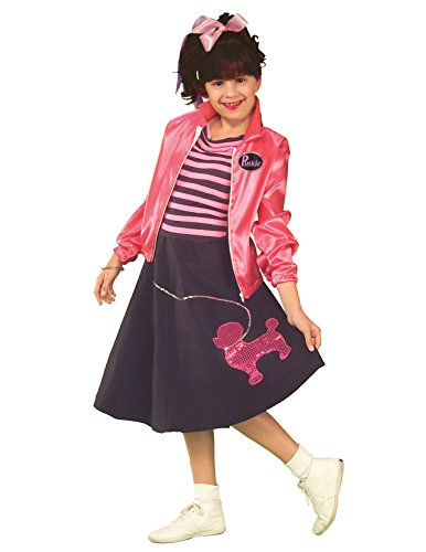 Forum Novelties 50s Poodle Skirt Child Costume, Medium (50s Pink Poodle Girls Costume)