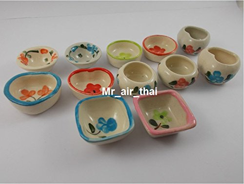 12 pc Ceramic Incense Holder Cone Incense Burners Fragrance Miniature China Style