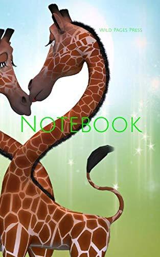 Notebook: Giraffe digital art fantasy friendship love