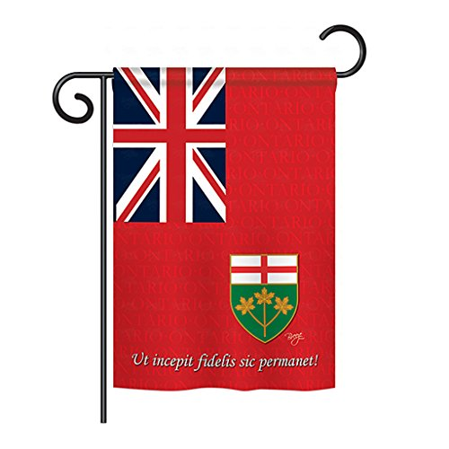 Breeze Decor - Ontario Flags of the World - Everyday Canada Provinces Impressions Decorative Vertical Garden Flag 13