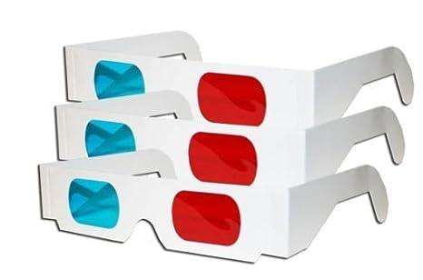 Ligero par TechSmile 3 3D de gafas de color rojo y cian lentes de ...