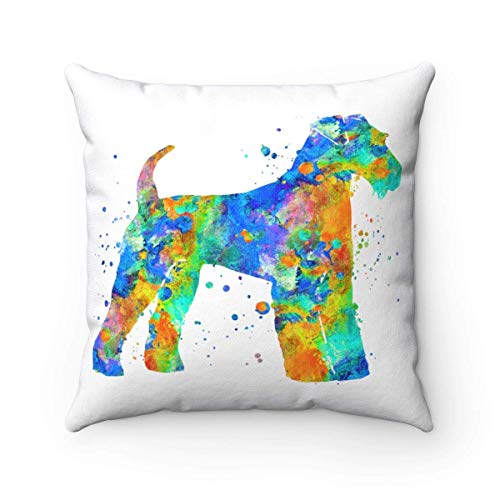 Airedale Terrier Throw Pillow, Pillow Cover, Accent