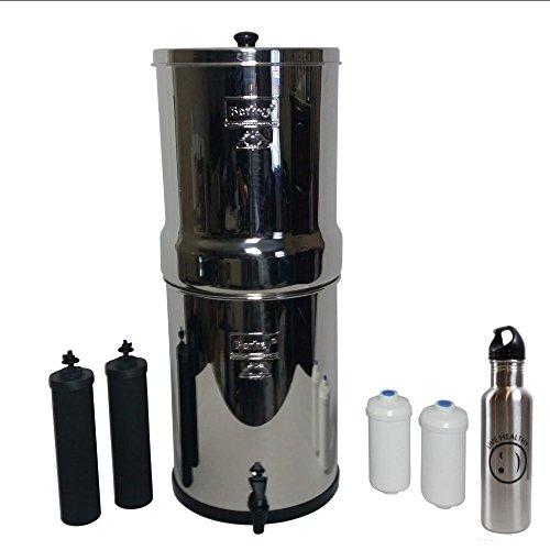 Crown Berkey Water Filter Stainless Steel Bundle - 2 Black B