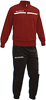 Givova, chandal givova one full zip, granada/negro, XL: Amazon.es ...