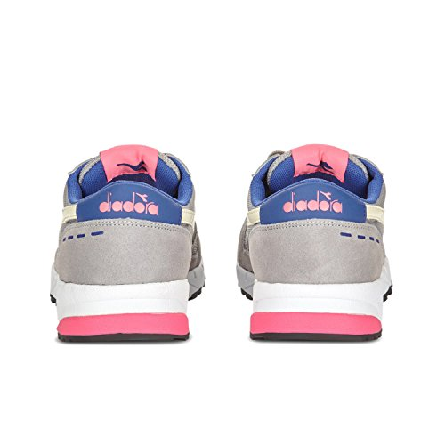 Adults' Neck C6491 PALOMA FLUO 90 PINK Sneaker Diadora GRAY Low Unisex Run A4w55S