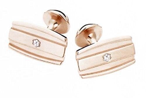 Montblanc Fine Jewelry Cufflinks Solid 18k Red Gold Diamond New Germany 105866