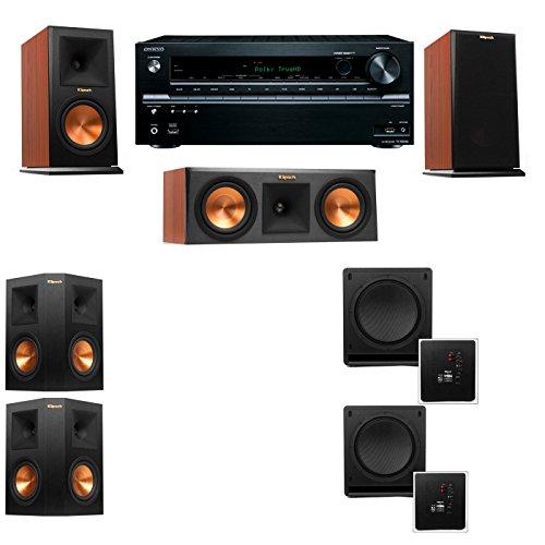 Klipsch RP-150M-CH Monitor Speaker 5.2 SW-112 Onkyo TX-NR636