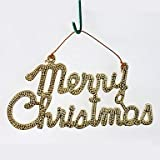 JOE 2 pcs Christmas Decorations Hanging Drop Hot Stamping Words Merry Christmas