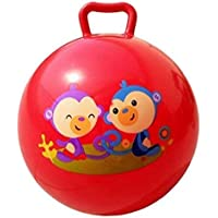 Darbar Online® Bouncing Space Hopper Ball Inflatable Bouncer Hoppity Hop Jumping Ball Children Yoga Outdoor Game Gymnastic Hopper Jump N Bounce Retro Ball Handle Ride-on Toy Bouncy for Kids