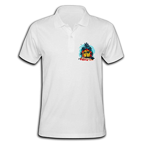Male's Polo Shirt Short Sleeve With Performance Printing Large - Island Kona Performance