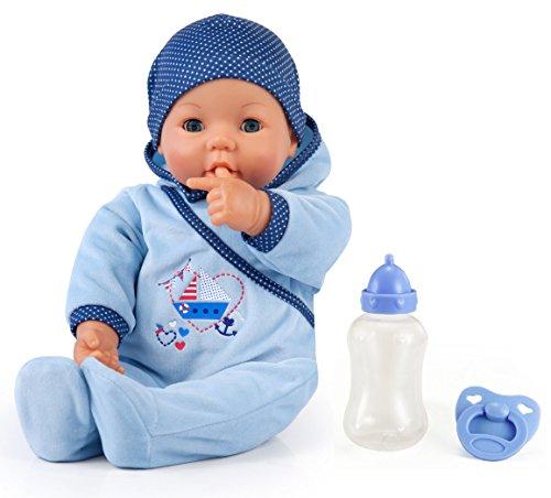 Bayer Design 9468300 - Funktionspuppe Hello Baby Boy mit Zubehör, 46 cm