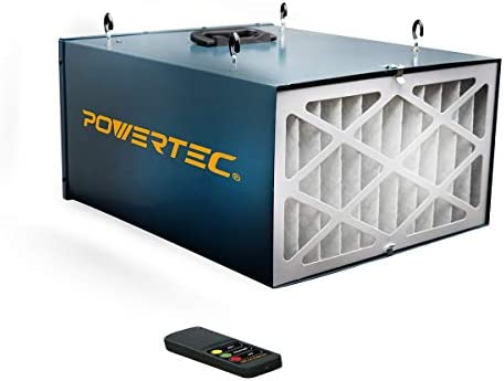 POWERTEC AF4000 Remote Controlled 3-Speed Air Filtration System 300 350 400 CFM