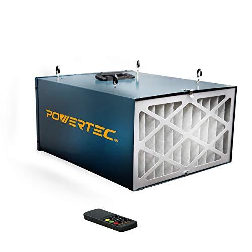 POWERTEC AF4000 Remote Controlled 3-Speed Air Filtration System (300/350/400 CFM) (Delta Air Filter)