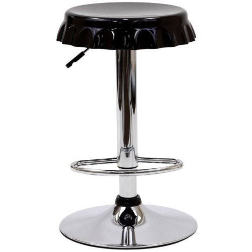 Diner Style Bar Stool (Modway Soda Retro Bottle Cap Adjustable Swivel Bar Stool in Black)