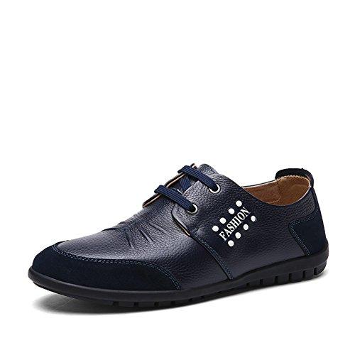 Zapatos ocasionales del negocio del verano/Inglaterra, zapatos de hombres Azul